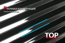 Накладки на решетку радиатора из полированной нержавеющей стали Premium - Тюнинг Toyota Land Cruiser Prado 150 (Дорестайлинг, 2009 - 2013)