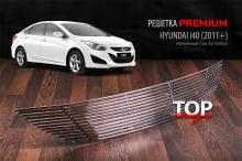 7927 Решетка в бампер PREMIUM на Hyundai i40