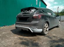 7974 Юбка на задний бампер RS Style на Ford Focus 3