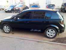 8008 Спойлер на крышку багажника на Opel Astra H 5D