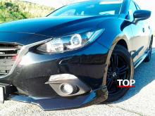 Реснички на переднюю оптику ГТ - Тюнинг Мазда 3 БМ (Дорестайлинг, седан)