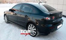 8049 Клыки на задний бампер Sport на Mazda 3 BK