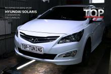 8073 Реснички на передние фары Sport Line на Hyundai Solaris