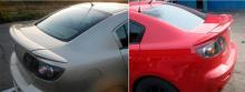 Большой спойлер на крышку багажника РХ - Тюнинг Мазда 3 БК (Седан)