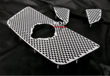 Накладки на решетку радиатора из полированной нержавеющей стали Premium - Тюнинг Nissan Patrol (Дорестайлинг, 2010 - 2013)