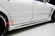 8095 Боковые пороги WALD Black Bison LONG на Mercedes S-Class W220