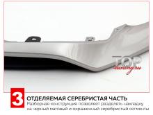 Серебристая часть 8110 Юбка переднего бампера Vision F-SPORT на Lexus NX