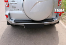 8189 Накладка (протектор) на бампер на Toyota RAV4