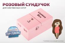 Розовая шкатулка сундучок АБСОЛЮТНО БЕСПОЛЕЗНАЯ КОРОБКА С БОГАТОЙ ФАНТАЗИЕЙ