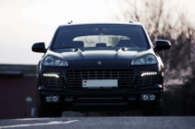 840 Корпусы модулей ПТФ в передний бампер Tech Art Lite на Porsche Cayenne 957