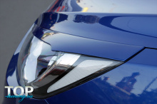 8432 Накладки на фары A`pex Wave на Hyundai Solaris