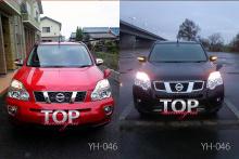 8455 Крышки боковых зеркал с указателями поворотов Epic YH-046 ХРОМ на Nissan X-Trail T31