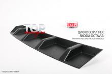 8460 Диффузор заднего бампера A`PEX на Skoda Octavia 3