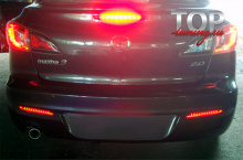 8461 Светодиодные катафоты заднего бампера Epic 3 в 1 на Mazda 3 BL