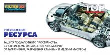 защита подкапотного пространства, узлов системы охлаждения автомобиля от загрязнения, разрушения камнями и мелким мусором