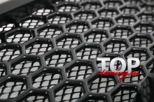 РЕШЕТКА РАДИАТОРА С СЕТКОЙ - МОДЕЛЬ АПЕКС СПОРТ - ТЮНИНГ ХОНДА АККОРД 8 (8 ПОКОЛЕНИЕ, РЕСТАЙЛИНГ, 2011 / 2013)
