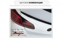 8506 Лип спойлер Epic R-Line на VW Passat CC