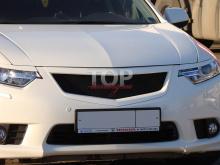 8510 Решетка радиатора A`PEX С сеткой (рестайлинг) на Honda Accord 8