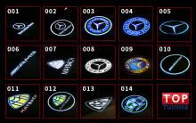Варианты лого на выбор - 8538 Проектор логотипа в дверь Laser HD на Mercedes