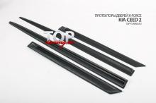 8558 Протекторы дверей X-Force на Kia Ceed 2