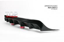 8561 Диффузор заднего бампера X-Force (Универсал) на Kia Ceed 2