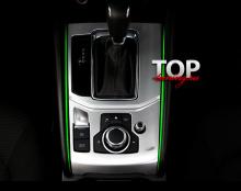 ЦЕЛЬНАЯ НАКЛАДКА НА ПАНЕЛЬ АКПП Epic Sport ТЮНИНГ МАЗДА СХ-5 (2 ПОКОЛЕНИЕ, MAZDA CX-5 NEW 2017+)