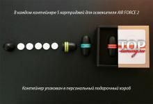 Состав комплекта - 8593 Сменные картриджи для ароматизатора Air Force 2