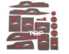 Максимальный комплект 8599 Защитные вставки-коврики в салон AMG style на Mercedes E-Class W213