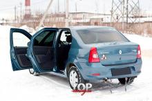 8658 Накладки на пороги в салон Bastion на Renault Logan