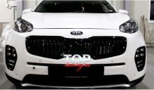 РЕШЕТКА РАДИАТОРА X-CAR ТЮНИНГ КИА СПОРТАЖ 4 2016+ Готовая к установке. Оригинальное качество. Окрашенная поверхность.