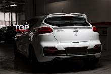 8698 Диффузор на задний бампер Evolution на Kia Ceed Pro