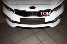 8700 Накладки на передний бампер Evolution на Kia Ceed Pro