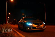 8710 Передние тюнинг фары Bifocal Xenon Ready на Mazda 6 GH