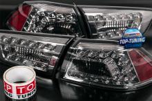 Тонированные 8714 Задние тюнинг фонари LUX на Mitsubishi Lancer 10 (X)
