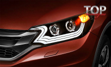 8718 Тюнинг фары HD Xenon Ready Bifocal на Honda CR-V
