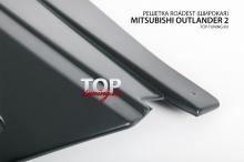 8729 Решетка радиатора Roadest широкая на Mitsubishi Outlander 2