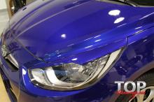 8755 Реснички на фары Exclusive 3D на Hyundai Solaris