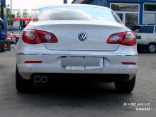 Пример установки VW Passat CC - 8780 Двойная насадка REVOLVER 80 mm x2