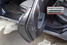 8796 Протекторы порогов Bastion на Hyundai Solaris