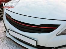 8799 Решетка радиатора с лезвиями Dynamic на Hyundai Solaris