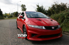 8800 Решетка радиатора Mugen на Honda Civic 5D (8)