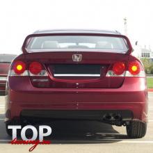 8826 Накладка на задний бампер Mugen ABS на Honda Civic 4D (8)