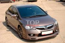 8828 Юбка на передний бампер Mugen ABS РЕСТАЙЛИНГ на Honda Civic 4D (8)