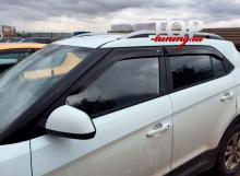8853 Дефлекторы на окна Black Line на Hyundai Creta