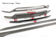 Юбка переднего бампера - 1 шт. Накладки на пороги - 2 шт.  Диффузор заднего бампера - 1 шт. Лип спойлер крышки багажника - 1 шт.