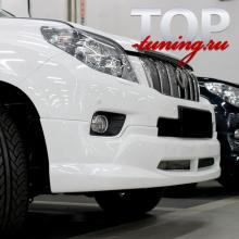 8902 Юбка на передний бампер JAOS на Toyota Land Cruiser Prado 150