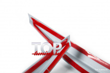 ТЮНИНГ МЕРСЕДЕС Ц-КЛАСС W204 (2011 - 2014) РЕСНИЧКИ CSR НА ПЕРЕДНЮЮ ОПТИКУ АБС ПЛАСТИК / ПАРА / ПОД ОКРАСКУ