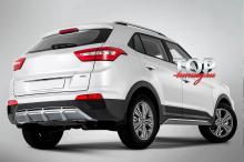8960 Накладки на пороги ATOM на Hyundai Creta