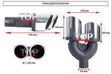 9039 Двойная насадка с сильным наклоном REVOLT Sport 100, 90, 80 mm x2