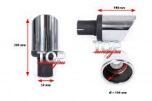 9050 Насадка на глушитель с сильным наклоном MAGNUM Premium 120, 100, 90, 80 MM